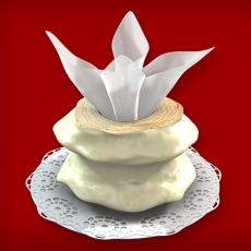 Baumkuchen mit weißer Schokolade (2-Ring 600-1000g)