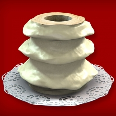 Baumkuchen mit weißer Schokolade (3-Ring 1100-1500g)