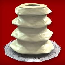 Baumkuchen mit weißer Schokolade (4-Ring 1600-2000g)