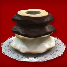 Baumkuchen mit Fondant/Zartbitter (3-Ring 1100-1500g)