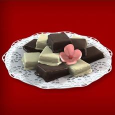 Baumkuchenspitzen Weiße Schokolade/Zartbitter