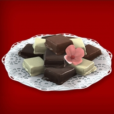 Baumkuchenspitzen Weiße Schokolade/Zartbitter/Vollmilch