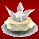 Baumkuchen mit weißer Schokolade (1-Ring 350-500g)